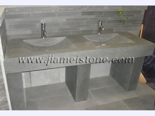 andesite bathoom sink, grey basalt bathroom sink