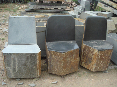 Basalt Benches And Table Tops Sitting Blocks Chair Desk