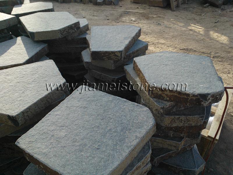 Basalt Pavers Flamed Bushhammered Honed Polished Hexagonal