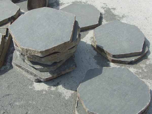 Basalt Pavers Flamed Bushhammered Honed Polished Hexagonal