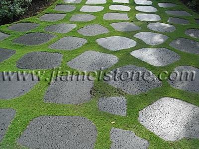 Lava Basalt Stone Random Pavers Garden Paving Round Square
