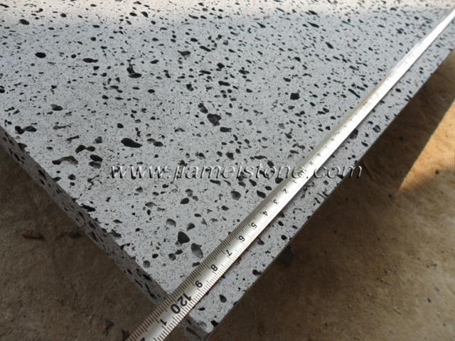 Lava Stone Tile : Lava stone holes solid basalt tiles slabs paving supplier