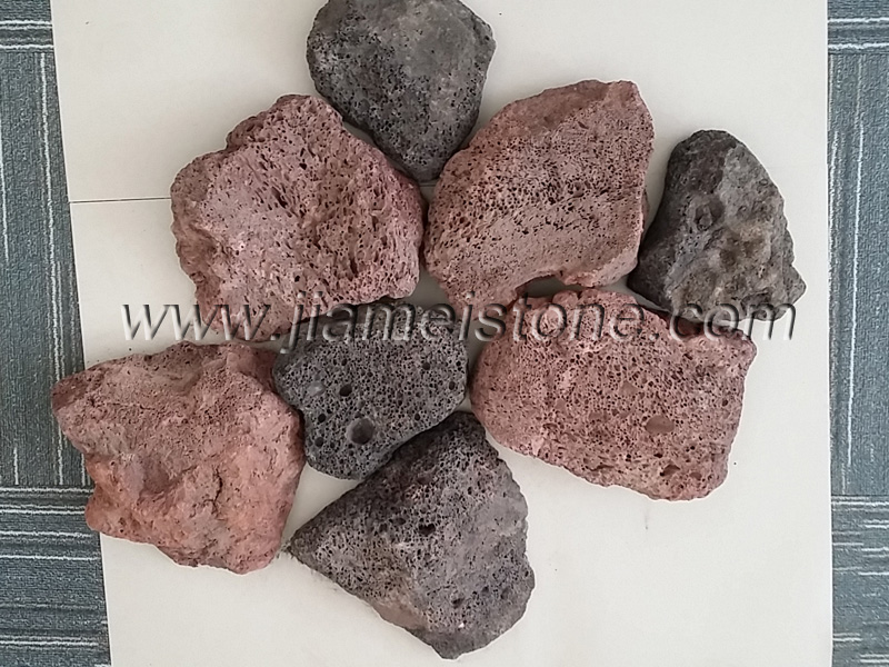 Rock Face Lava Stone Wall Veneer Red Lava Walling Stone