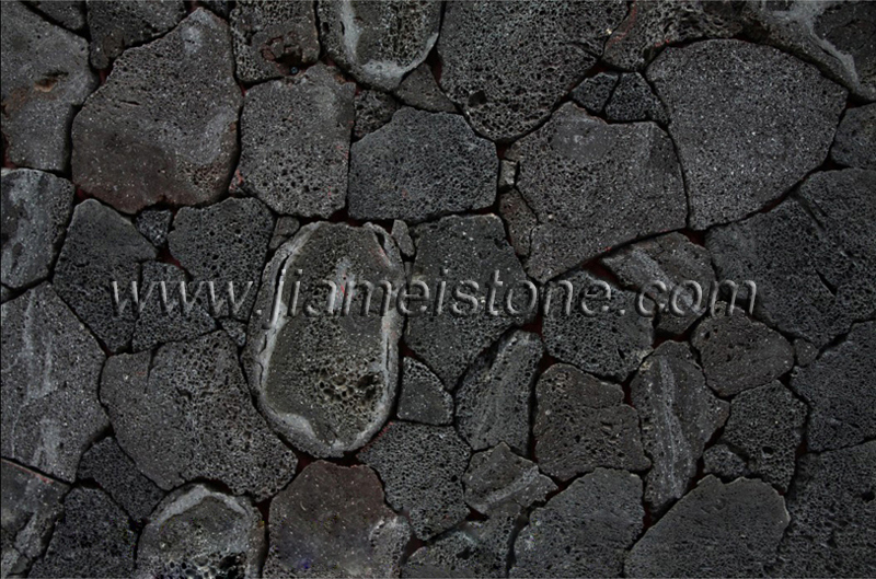 Lava Stone With Cut Faces Lava Stone Veneers With Sliced