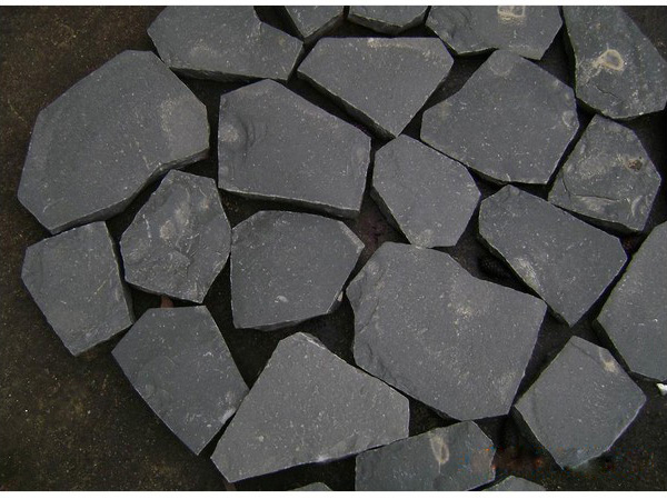 Zhangpu Black Basalt G685 Flamed Cobblestone Slab Setts