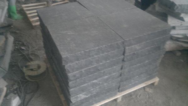 Basalt Granite Slab : Zhangpu black basalt g flamed cobblestone slab setts