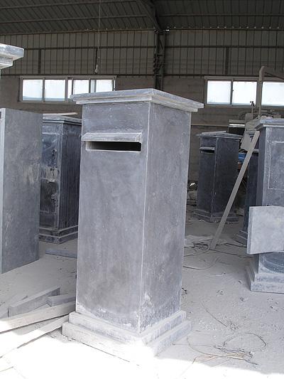Chinese Blue Limestone Mailbox Post Box Stone Letter Box