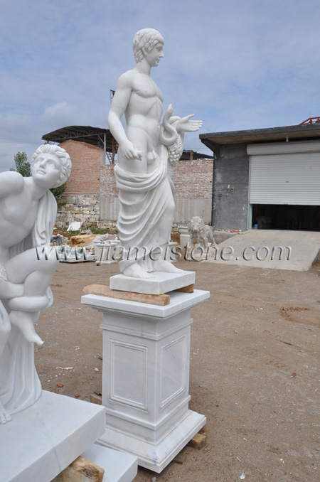 Asclepius Marble Stautes Sculpture White Marble Greek And