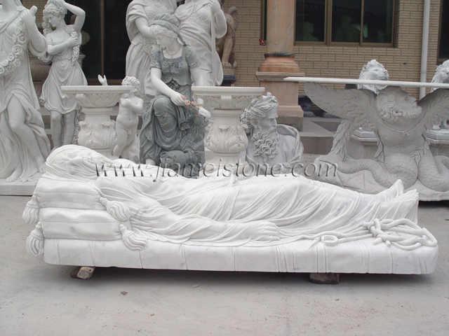 Veiled Christ Marble Stautes Sculpture White Marble Greek