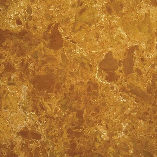 Copper Yellow Marble Tiles Slabs Cut To Size Countertop