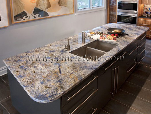 Genial Azul Bahia Blue Granite Countetops, Granite Countertops