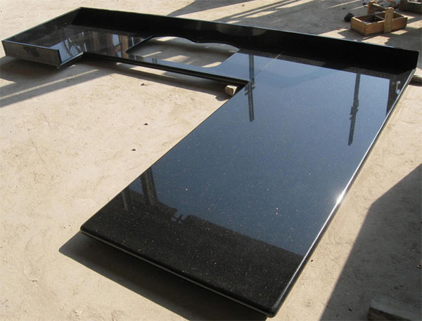 Black Galaxy Granite Kitchen Countertop Bathroom Vanity