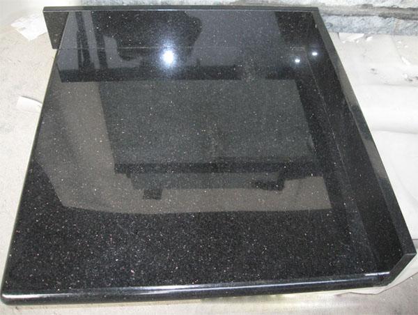 black galaxy granite kitchen countertop bathroom vanity top worktop