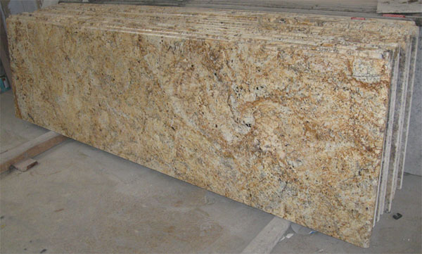 Crystal White · Crystal Yellow Granite Countertop