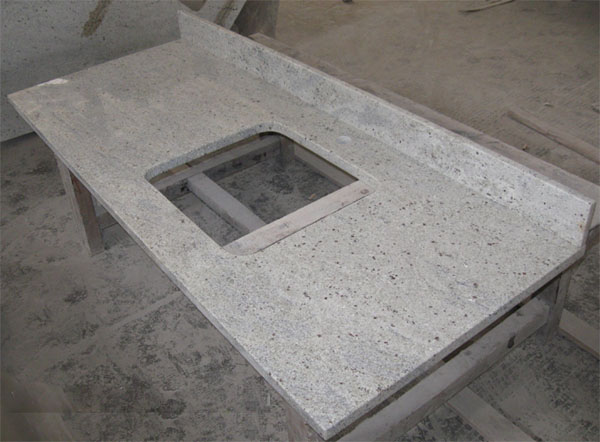 Kashmir White Granite Kitchen Countertop Bathroom Vanity Top Worktop