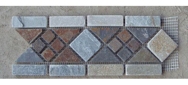 Slate Mosaic Borders Stone Mosaic Borders Moldings Walling