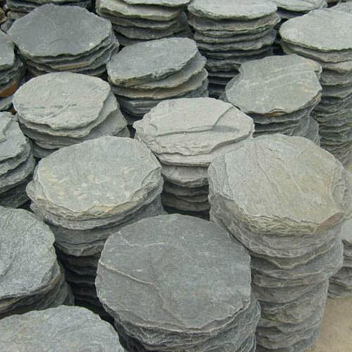 Slate stepping stone quartzite round pavers sandstone ... Stepping Stones