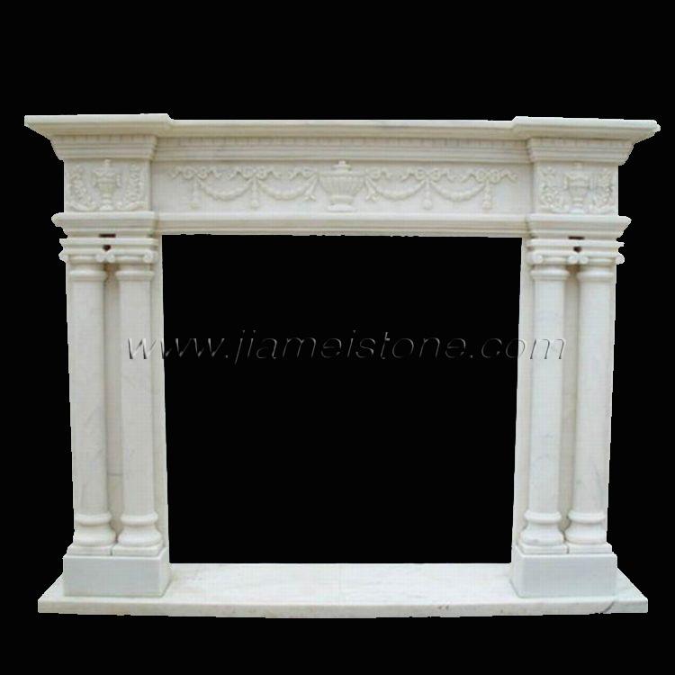 Marble Fireplaces Mantel Column Configuration Surrounds Mantles Travertine Sandstone Limestone