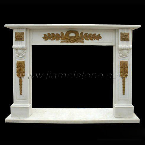 marble fireplace mantel surround mixed colors travertine