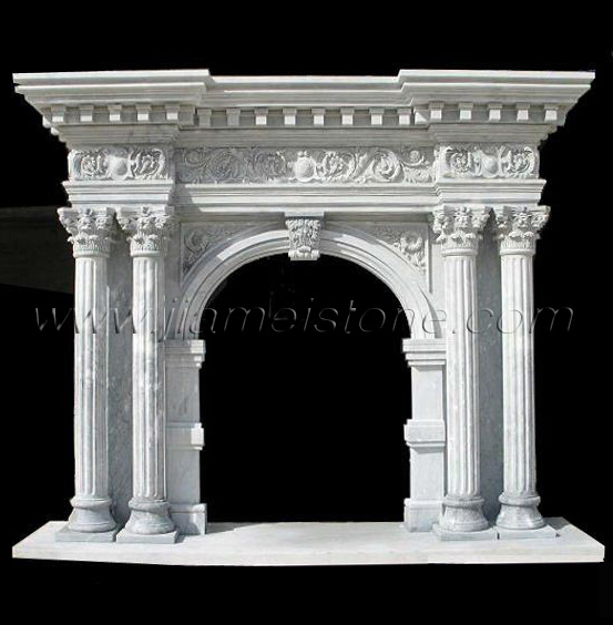 Fireplace OM021 - Marble fireplace surround overmantel ...