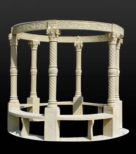 China Gazebo Factory Summerhouse Direct Stone Gazebo Marble Gazebo Granite Gazebo Sculpture