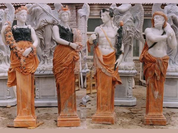Four Seasons Marble Statues Gods Goddess Sculpture