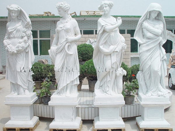 Four Seasons Marble Statues Gods Goddess Sculpture