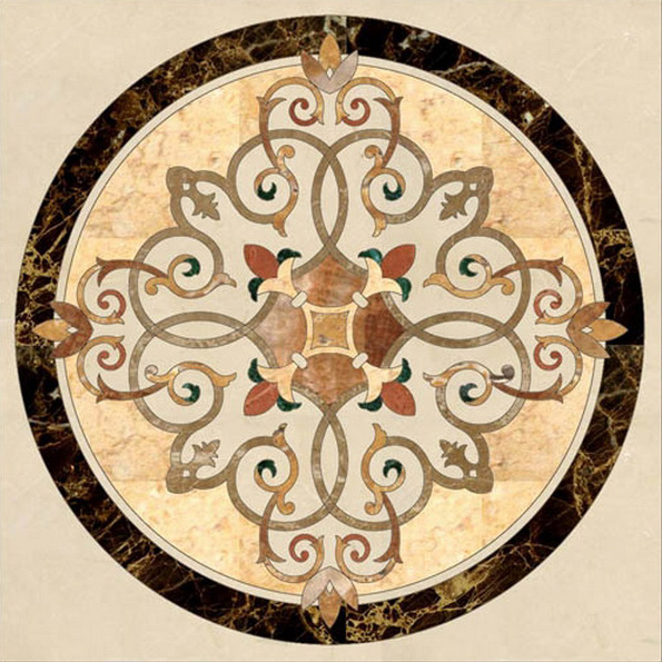 Marble Patterns Designs : Marble medallions stone waterjet patterns granite mosaic
