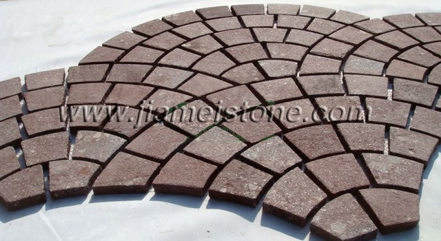 Cobble Stone Mosaics : Porphyry stone china red cobblestone pavers cubes