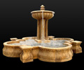 marble fountain, travertine fountain, stone fountain